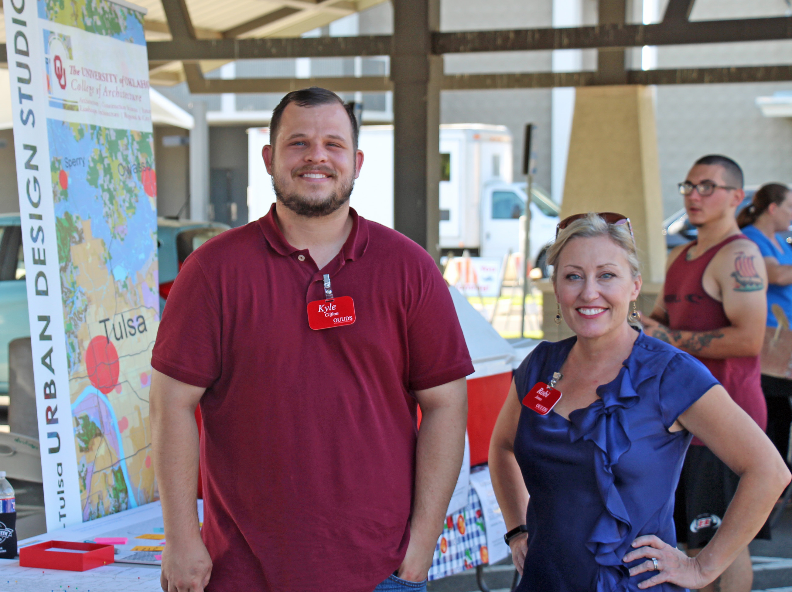 Urban Design Students Kyle Clifton and Robi Jones at the Muskogee Farmers' Market