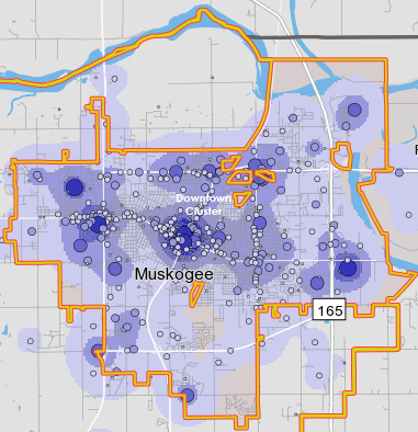 Distribution of Employers in Greater Muskogee