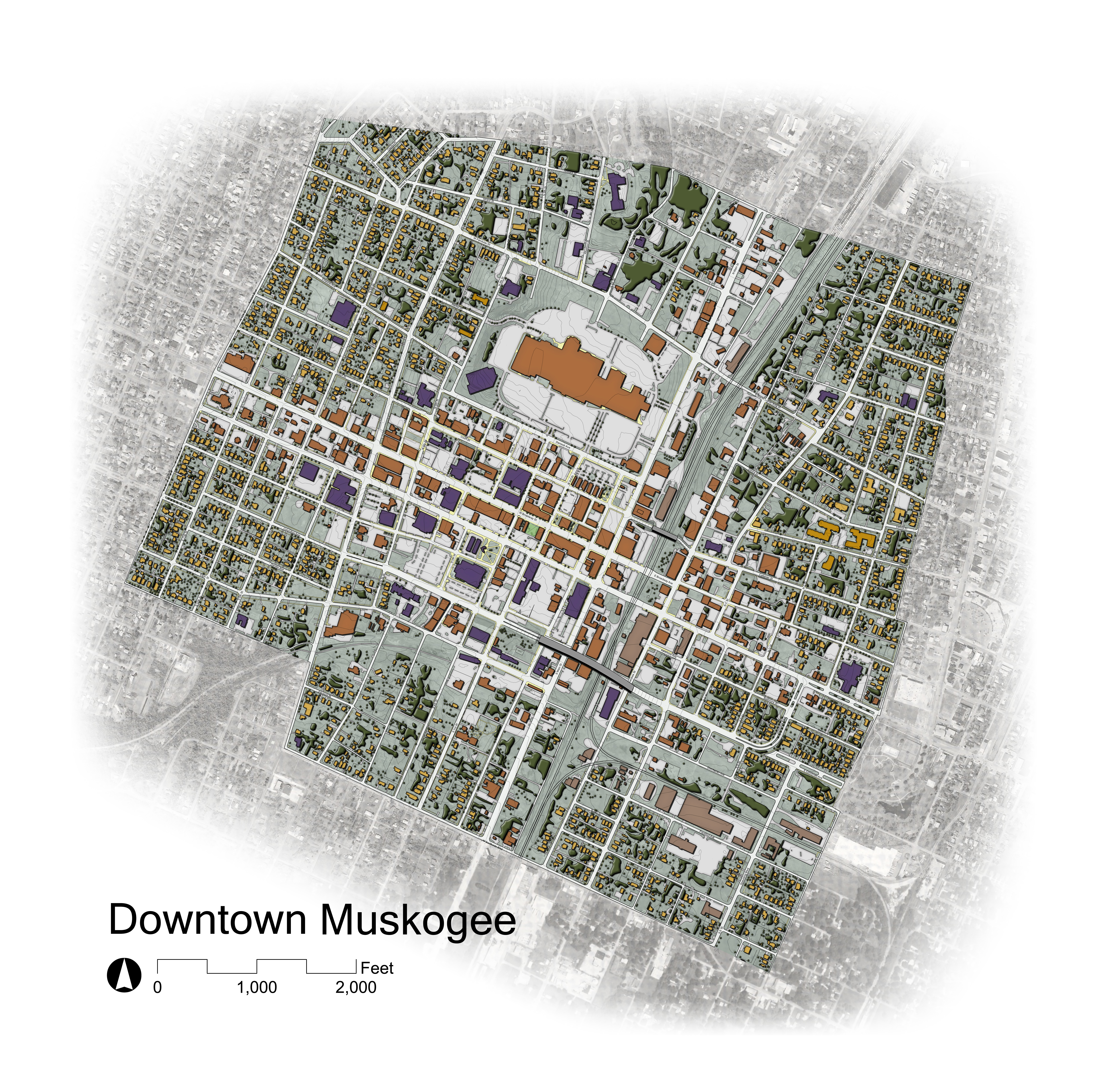Downtown Muskogee Illustrated Plan